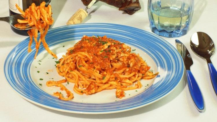 Umbricelli in salsa Trasimeno