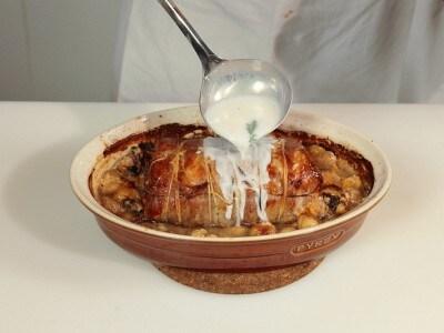 Arrosto di maiale con castagne