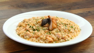 Risotto ai filetti di trota