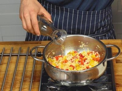 Risotto alla vogherese con peperoni