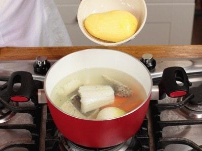 Baccalà in bianco con salsa verde