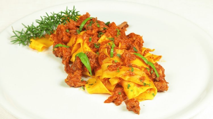 Pappardelle all'ocio