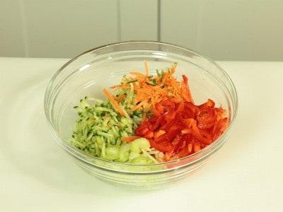 Gamberoni e verdure
