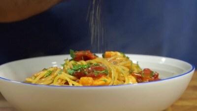 Spaghetti con i gamberi