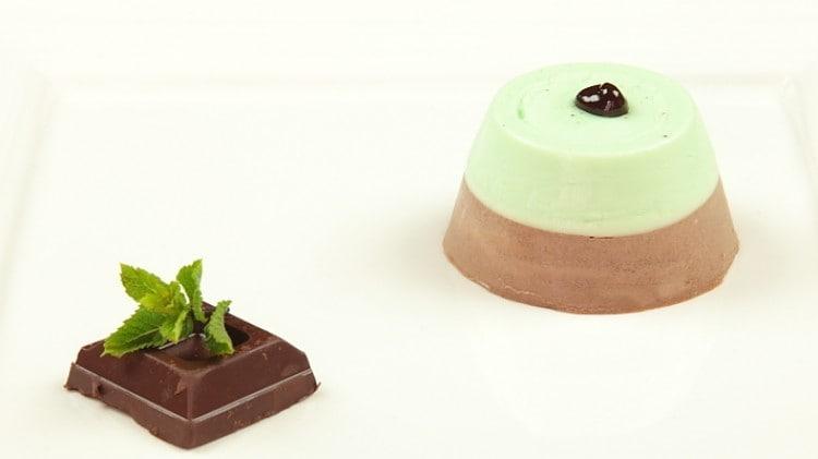 Panna cotta bigusto menta e cioccolato