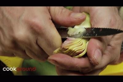 Gnocchetti di carciofi con pancetta e carciofi