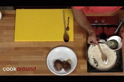 Filetto al pepe verde e panna acida