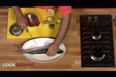 Cefalo con verdure