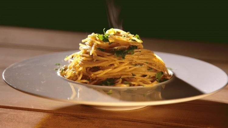 Spaghettini alla polpa di riccio