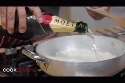 Risotto scampi e champagne