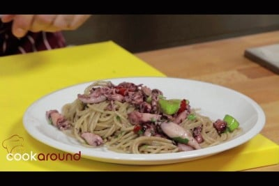 Spaghettini con calamari spillo
