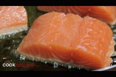 Salmone con pesto