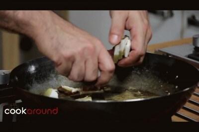Gnocchi di patate con gamberoni e porcini