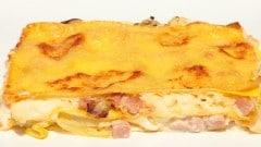 Lasagne al prosciutto cotto e porri