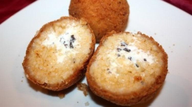 Arancini ricotta e tartufo bianco