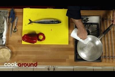 Sgombri in agrodolce con peperoni
