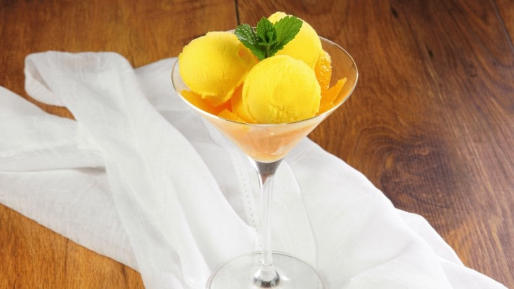 Gelato all'arancia