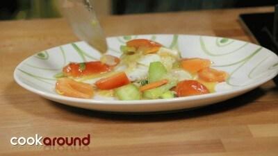 Filetto di rombo con verdurine