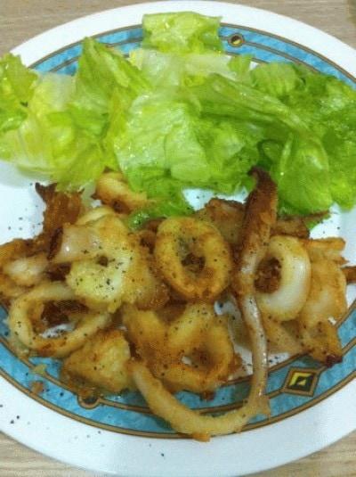 Calamari che sembrano fritti