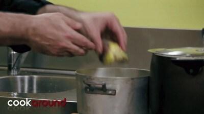 Pappardelle con carciofi, asparagi e piselli