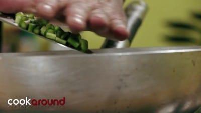 Quiche con asparagi e pancetta