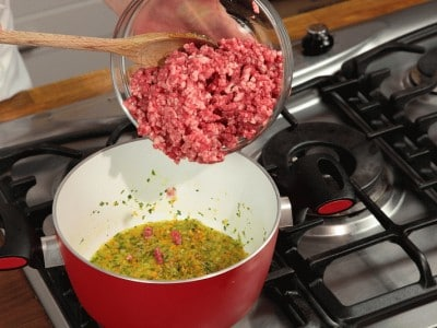 Lasagne zucca e ragù con patate