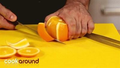 Gamberi in spuma di bitter all'arancia