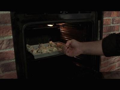 Spiedini di calamari al forno