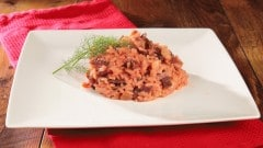 Risotto bacon e barbarossa