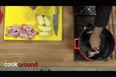 Pollo al limone con patate