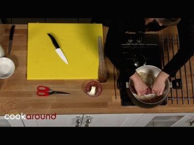 Filetto di maiale nel latte tartufato