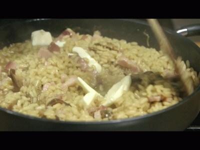 Risotto porcini e pancetta
