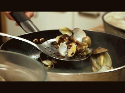 Fettuccine calamari e vongole