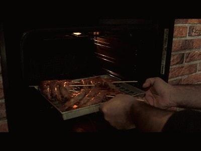 Spiedini di gamberoni al forno