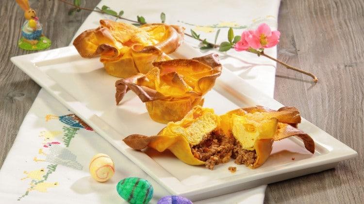 Lasagnette con ragù di agnello e ricotta allo zafferano