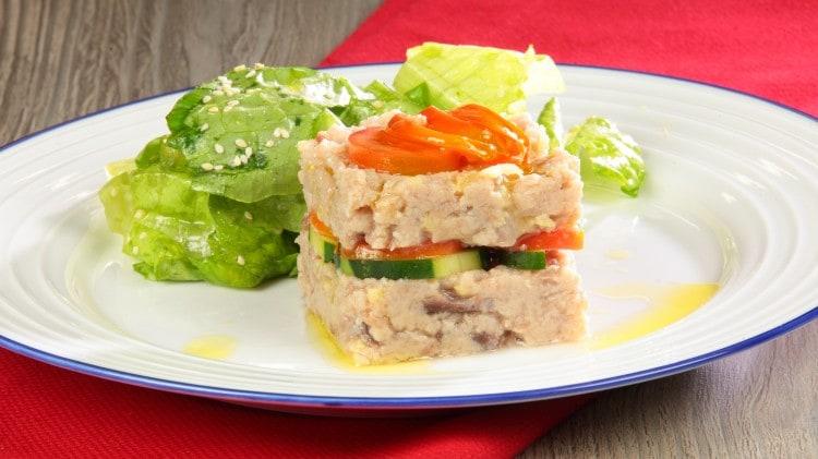 Tartare di palamita con insalata