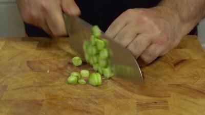 Gnocchi con gamberi e asparagi