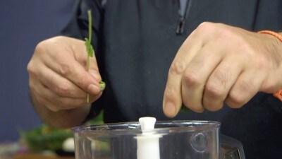 Salsa di melanzane alla menta piccante
