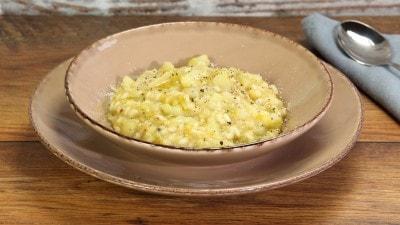 Minestra di riso con porri e patate