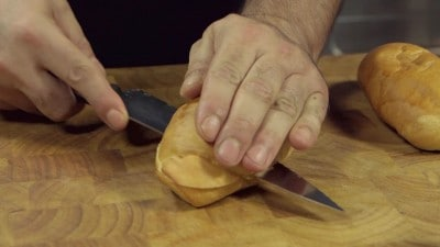 Panini avocado e gamberi