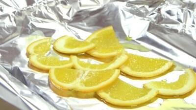 Spigole al cartoccio con lime e miele