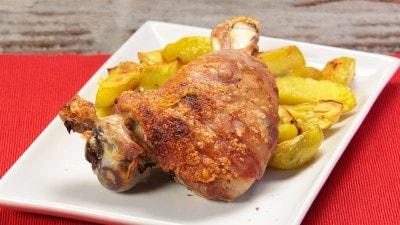 Maialino arrosto con patate