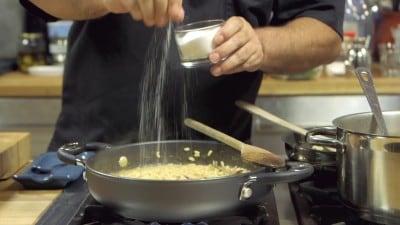 Risotto calamari e curry