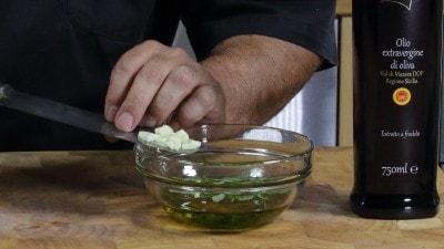 Crostini con verdure grigliate