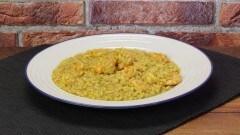 Risotto al curry con gamberetti