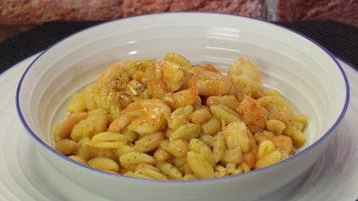 Gnocchetti sardi con gamberi e fagioli