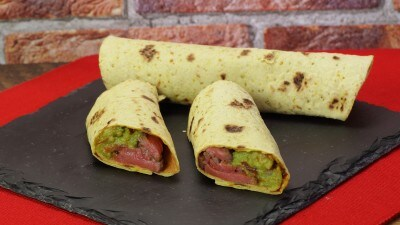 Tortillas con controfiletto e guacamole