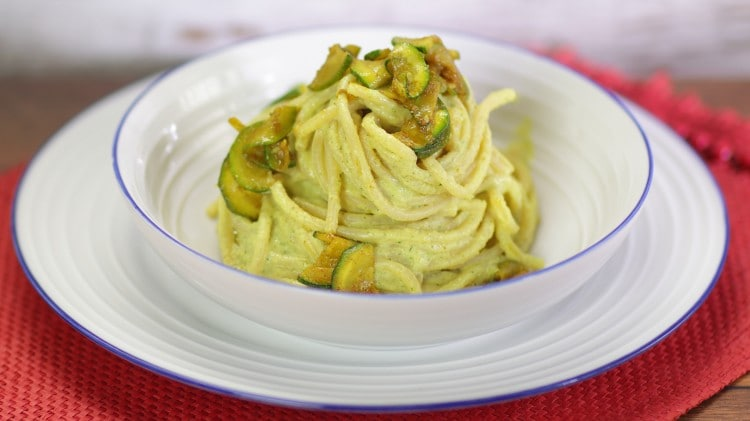 Vermicelli con ricotta e zucchine speziate