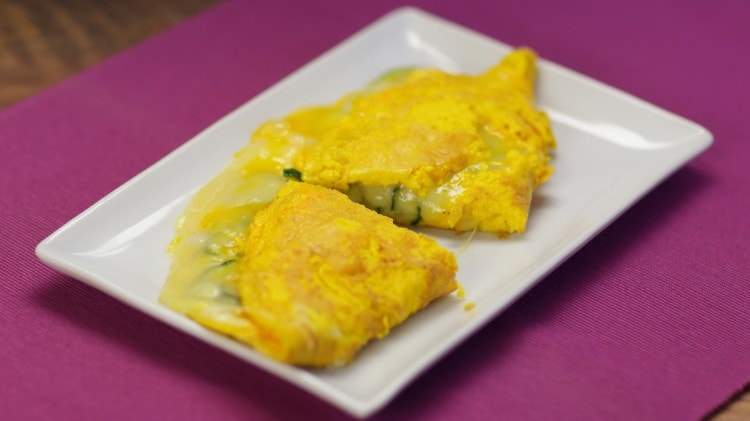 Omelette zucchine e formaggio