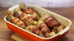 Cosce di pollo con senape e bacon